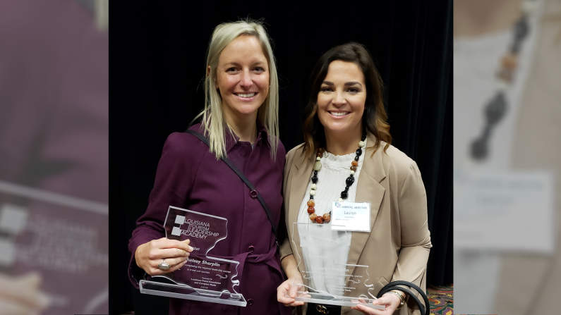 Chelsey and Lauryn Sharplin graduate from the Louisiana Tourism Leadership Academy